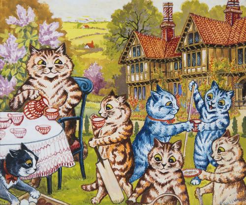 Những chú mèo đi bằng hai chân, biết uống trà, nói chuyện. Ảnh: DeviantArt