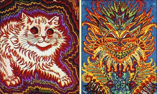 Những bức tranh về mèo được ông vẽ theo chiều hướng trừu tượng, dần dần, con mèo không giống mèo nữa. Ảnh: DeviantArt