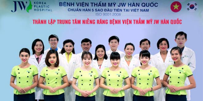 Đội ngũ bác sĩ, nhân viên của Trung tâm chuyên niềng răng trực thuộc Bệnh viện JW Hàn Quốc.