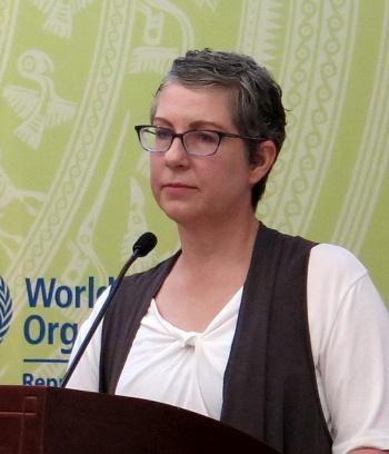 Bà Pamela Sumner Coffey, Phó chủ tịch Chương trình quốc tế, Tổ chức Hành động vì trẻ em không thuốc lá (Mỹ).