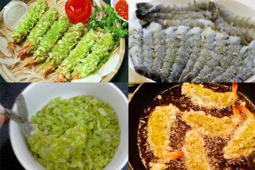 Từ cốm xanh có thể chế biến thành nhiều món ăn bổ dưỡng như: tôm chiên cốm, chè cốm, bánh phu thê,...