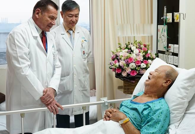 Bệnh nhân hồi phục sau mổ. Ảnh: M.T