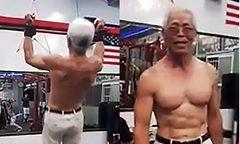 'Ông ngoại' 73 tuổi bụng 6 múi nhờ hít đất mỗi ngày