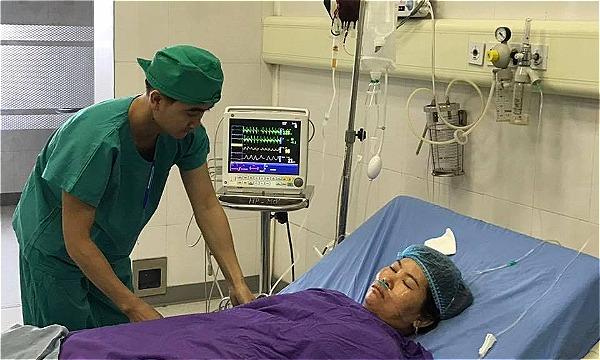 Bệnh nhân đang được theo dõi tại bệnh viên. Ảnh: Bệnh viện cung cấp.