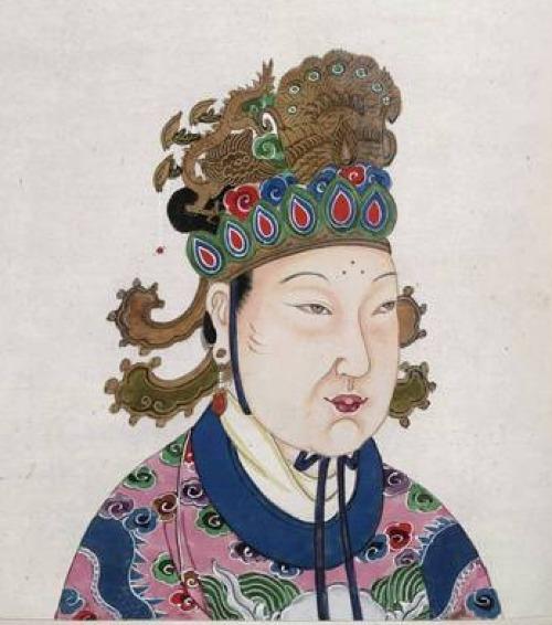 Tranh vẽ chân dung Võ Tắc Thiên. Nguồn: British Library.