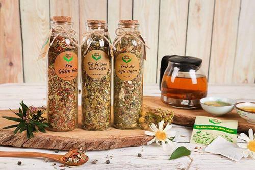 Công ty cổ phần Allherbs sản xuất trà ăn ngủ ngon, bổ gan giải rượu, giảm béo.
