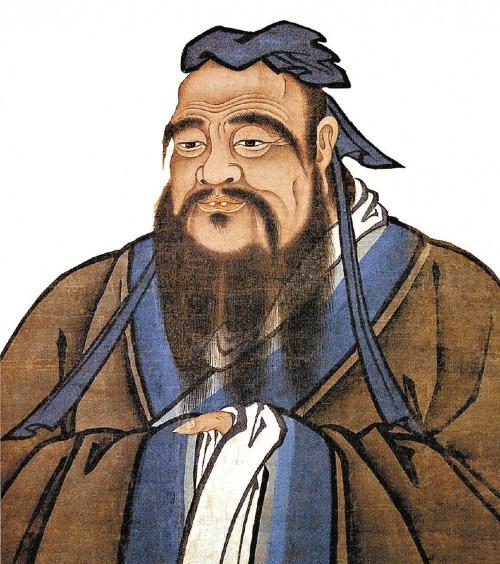 Tranh vẽ Khổng Tử. Nguồn: Wikipedia.