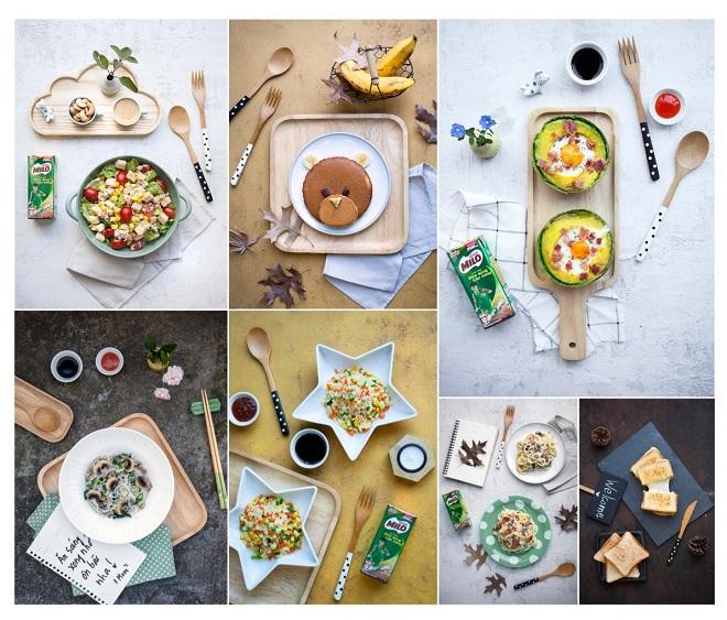 Thực đơn bữa sáng trong tuần của đầu bếp Phan Anh dành cho hai con gái.