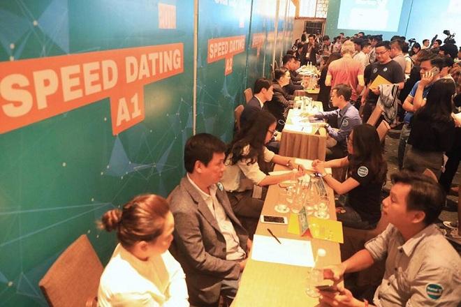 Buổi Speed Dating có sự góp mặt của nhiều chuyên gia và các đơn vị khởi nghiệp. Ảnh: Tuấn Nhu.