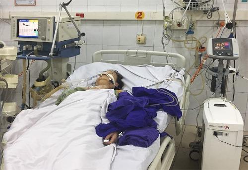Bệnh nhân được áp dụng kỹ thuật hạ thân nhiệt để điều trị. Ảnh: BVCC