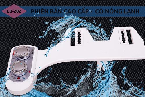 Sản phẩm vòi rửa vệ sinh thông minh Luva Bidet LB202 còn tích hợp chế độ nước nóng lạnh, phù hợp nhu cầu của người dùng. Sản phẩm giảm 44% chỉ còn 950.000 đồng trên Shop VnExpress.