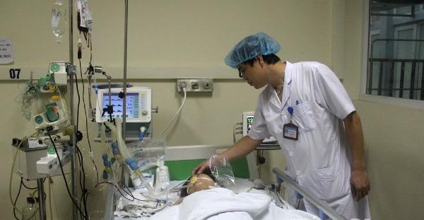 Bệnh nhân đang được theo dõi tại Bệnh viện Đa khoa Bắc Giang. Ảnh: Bệnh viện cung cấp.