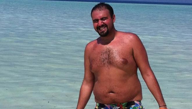 Hình ảnh Al-Suwaidi khi chưa giảm cân. Ảnh: CNN