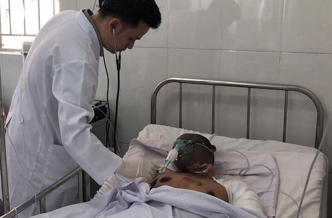 Nam tài xế đang được điều trị tại Bệnh viện Chợ Rẫy. Ảnh: L.P