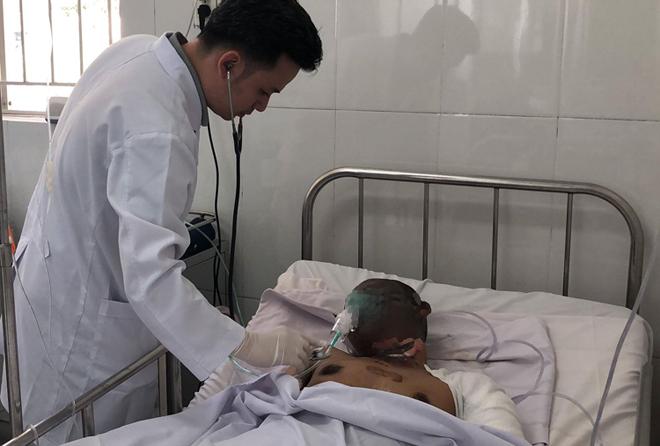 Nam tài xế đangđược điều trị tại Bệnh viện Chợ Rẫy. Ảnh: L.P