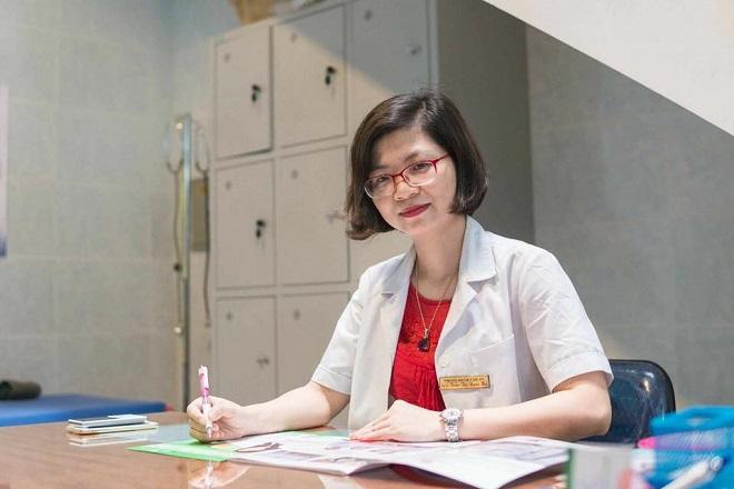 Thạc sĩ, Bác sĩ Trần Thị Ngọc Hà, phẫu thuật viên chính của ca tam thai. Ảnh: NVCC