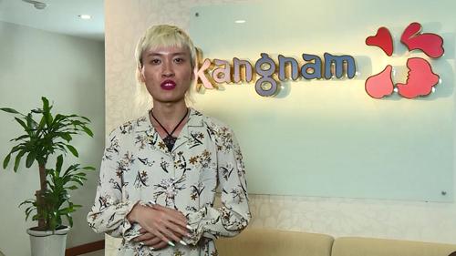 Ngọc Sang lúc chưa phẫu thuật thẩm mỹ có ngoại hình nam tính.