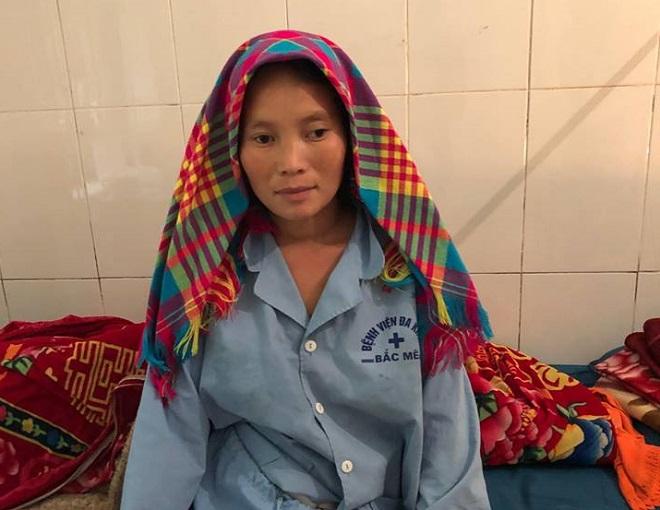 Chị Mã Thị Chung đã ổn định và xuất viện về nhà. Ảnh: Bệnh việncung cấp