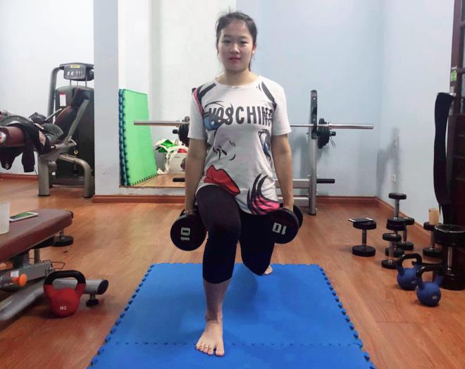 Hải Linh giảm gần 20 kg sau 2 tháng tập luyện. Ảnh: Thùy An