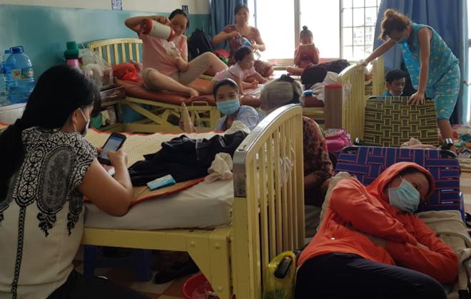 Bệnh nhân sởi điều trị tại Bệnh viện Bệnh Nhiệt đới ngày 14/1. Ảnh: Lê Phương.