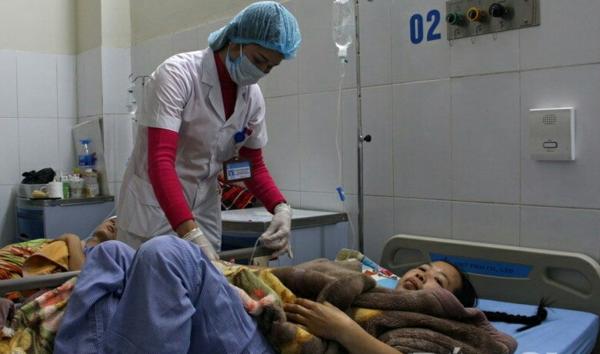 Bệnh nhân đang được chăm sóc tại khoa Ngoại thần kinh bệnh viện. Ảnh:: BVCC