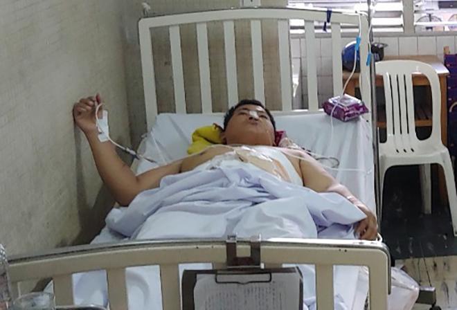 Bệnh nhân đang hồi phục tốt sau mổ. Ảnh: Lê Phương.