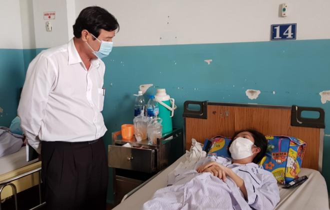 Thai phụ 18 tuần mắc sởi điều trị tại Bệnh viện Bệnh Nhiệt đới TP HCM. Ảnh: Lê Phương.