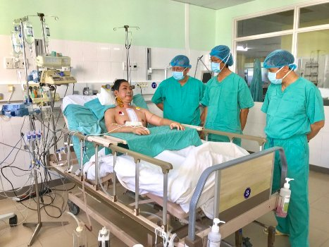 The patient returned to health after surgery. Photo: Tan Tan