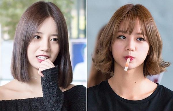 Khuôn mặt và thần thái thay đổi khác nhau với nhữngkiểu tóc khác nhau.
