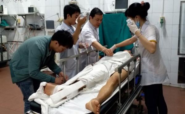Nhiều trường hợp bị tai nạn giao thông vào viện cấp cứu có cồn trong máu. Ảnh: Hà Linh.