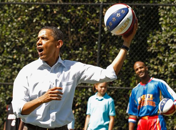 Obama có truyền thống chơi bóng rổ trong những dịp đặc biệt tại Nhà Trắng. Ảnh: Businessinsider