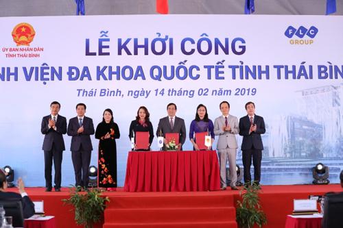 Lễ ký kết hợp tác giữa UBND tỉnh Thái Bình, Cục Quản lý Khám, chữa bệnh - Bộ Y tế và Tập đoàn FLC