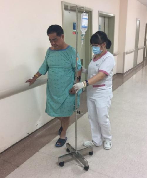 Bệnh nhân đã hồi phục hoàn toàn sau khi cấp cứu và điều trị kịp thời.