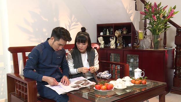 Vợ chồng chị Phương trong niềm hạnh phúc mong con.
