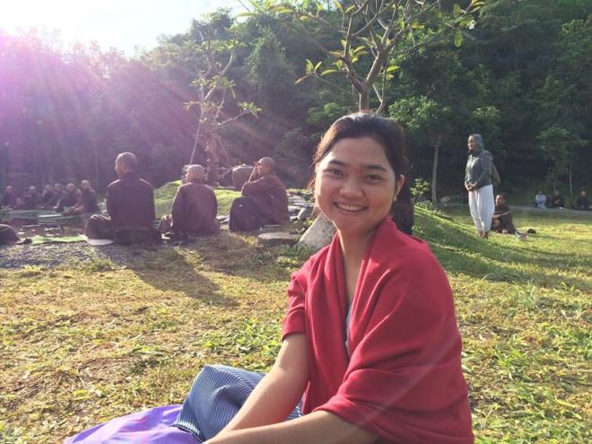 Mai Linh khi còn ở trung tâm thiền Làng Mai, Thái Lan. Ảnh: Nhân vật cung cấp