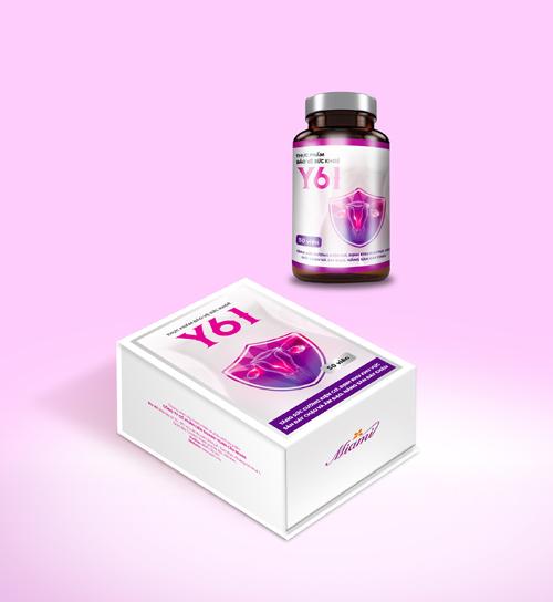 Y61 chứa nhiều thành phần thảo dược tự nhiên tốt cho việc chăm sóc vùng kín của chị em.