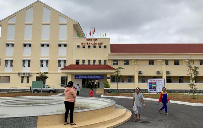 Cơ sở mới xây dựng của Bệnh viện huyện Cần Giờ. Ảnh Sở Y tế TP HCM.