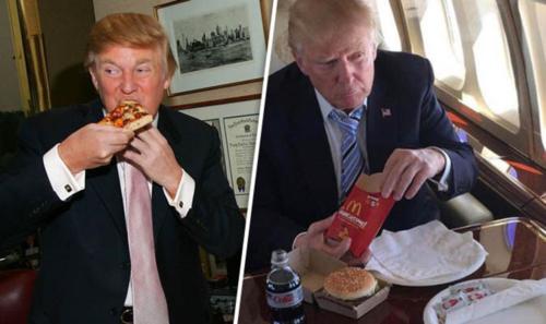 Tổng thống Trump là fan của thức ăn nhanh. Ảnh: Daily Express.