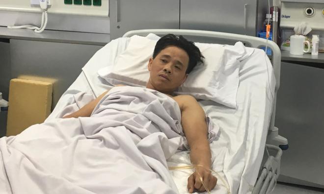 Sức khoẻ bệnh nhân hiện ổn định sau phẫu thuật. Ảnh: Lê Nga.