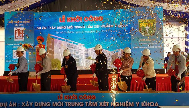 Lễ khởi công xây dựng ngày 2/3. Ảnh: Lê Phương.