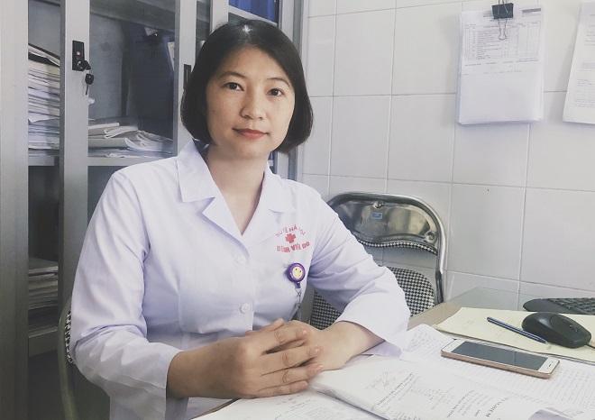 Chị Trần Thị Thúy, điều dưỡng trưởng bệnh viện 09. Ảnh: Thùy An
