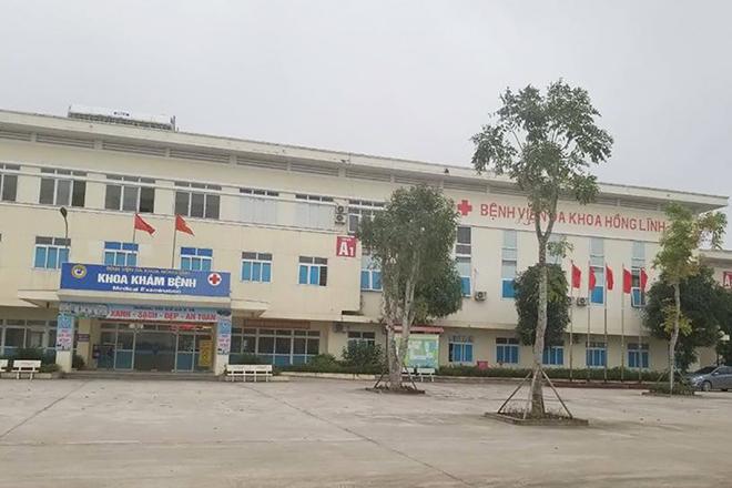 Bệnh viện Đa khoa thị xã Hồng Lĩnh. Ảnh: Linh Diệu