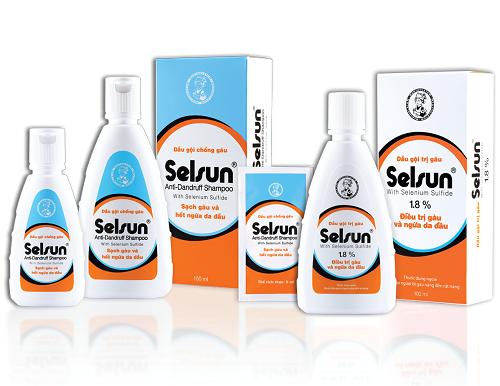 Tùy tình trạng gàu, người tiêu dùngcó thểchọn Selsun với hàm lượng 1 % Selenium Sulfide hoặc 1,8 % Selenium Sulfide.