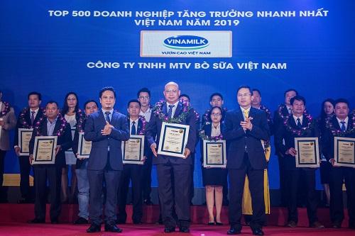 Công ty con của Vinamilk được vinh danh trong top doanh nghiệp tăng trưởng nhanh nhất Việt Nam.