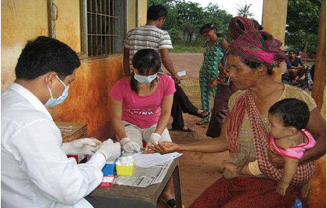 Điều tra sốt rét ở cộng đồng tại Bình Phước. Ảnh: Viện Sốt rét Ký sinh trùng Côn trùng TP HCM.
