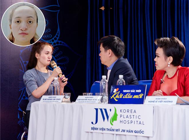 Bác sĩ Tú Dung trực tiếp khám và trò chuyện với thí sinh Kiều Thị Hạnh Viên.