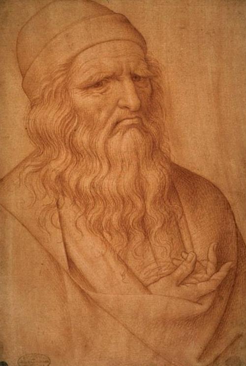 Chân dung Leonardo da Vinci do Giovanni Ambrogio Figinovẽ. Ảnh: Gallerie dellAccademia.