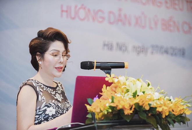 Bà Nguyễn Thị Khánh Vân - Đại diện đơn vị chủ nhà phát biểu khai mạc hội thảo.