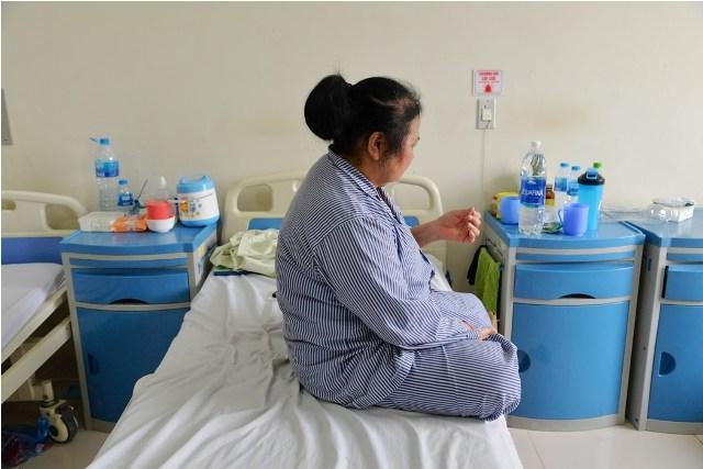 Bệnh nhân hiện đang được theo dõi sau mổ tại Bệnh viện Nội tiết Trung ương. Ảnh: Bệnh viện cung cấp.