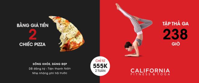 Dáng chuẩn, eo thon với giá chỉ bằng 2 chiếc bánh pizza tại California Fitness & Yoga Đà Nẵng